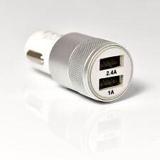 CAR CHARGER USB TWIN  2 PORT DUAL FAST 2.1A (2.4 peak)  12V CIGARETTE SOCKET
