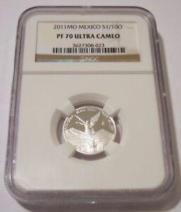 PCGS GRADED PR69 DCAM Banco de Mexico 1//10 OZ SILVER LIBERTAD PROOF COIN 1992 Mexico Tenth Oz .999 Silver