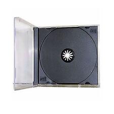100 USED Single Standard CD DVD Jewel Case Assembled 10.4mm