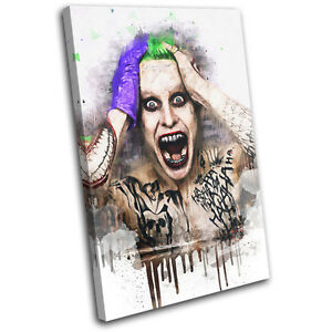 Suicide Squad Joker Abstract Movie Greats SINGLE CANVAS WALL ART Picture Print
