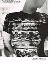 PUBLICITE ADVERTISING 025  1988  CHANTAL THOMAS  t-shirt dentelle homme