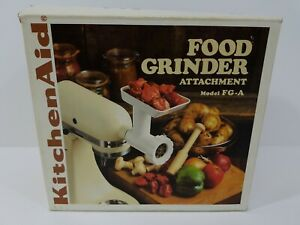 Vintage KitchenAid Food Grinder Attachment Model FG-A In Original Box