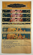 Six Vintage Western Union Telegrams Illustrated 1930s To 1951