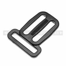 """10x 1.5"""" Black Plastic Tri-Glade Bag Sliding Belt Buckle Backpack Strap Adjuster"""