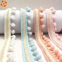 3 Yard Embroidery Trim Pom Ball Ribbon Fringe Ribbon Craft DIY Clothing Sewing