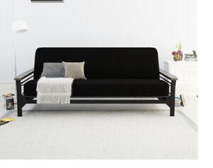 Black Futon Mattress Cover Washable Slipcover for Full Size Futon Mattress 72x46