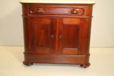 Great American Victorian Walnut Marble Top Dining Room Server Cabinet, 19th C.