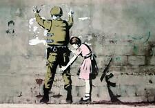 Banksy Poster - Soldat und Mädchen - Street Art Kunstdruck / Art Print 59x42 cm