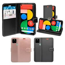 Case For Google Pixel 5 Wallet Flip PU Leather Stand Card Slot Pouch Cover