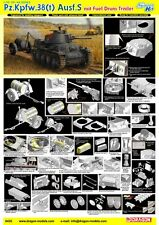 1/35 Dragon Pz.Kpfw.38(t) Ausf.S mit Fuel Drum Trailer #6435