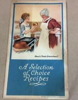 Vintage cookbook A Selection Of Choice Recipes cookbook FREE SHIPPING INV-P1033