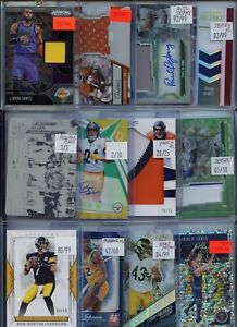 HUGE PREMIUM PATCH 1/1 AUTO JERSEY ROOKIE INSERT#'D  SPORTS CARD COLLECTION LOT