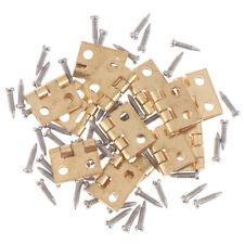 20pcs Dollhouse Miniature Hinges with Nails Screws fit Cabinet Furniture Closet