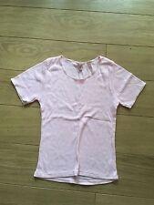 Pink thermal t-shirt Top thermal pink UK 10 small
