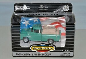 ERTL 1/43 Classic Vehicles 1955 CHEVY CAMEO PICKUP TRUCK Green