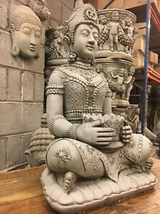 NEW Buddha Ornament,Garden stone buddha statue,Beautifuly detailed stone figure