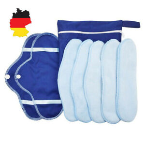 8Stk waschbare Binden wiederverwendbare Damenbinden Slipeinlagen Mutterschaft DE