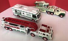 Hess Trucks Lot Qty 3 1998  RV 2000 Fire 2002  plane carrier  Lights Sounds Race