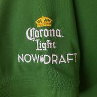 Corona Light Beer Men's Polo XL Collared Golf Shirt Green EUC OGIO Now on Draft