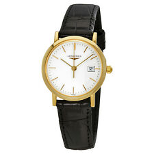Longines Presence White Dial Ladies Leather Watch L4.279.6.12.0