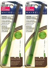 Lot 2 New In Package Maybelline Define-A-Brow Brow Pencil Medium Brown 643