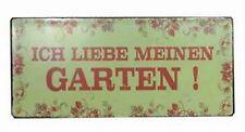 Blechschild Spruch Ich liebe meinen Garten Schild Retro Gartenschild nostalgie