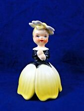 Mid Century 1956 Napco Flower of the Month Girl Figurine A1949 Yellow Excellent
