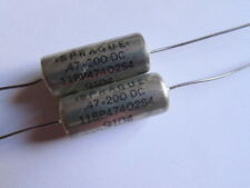 .47uF, 200V Sprague 118P47402S4 Metalized DI-FILM Capacitors Glass End Seal 2pcs