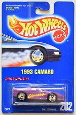 HOT WHEELS 1991 BLUE CARD 1993 CAMARO #202 W/ UH WHEELS 07