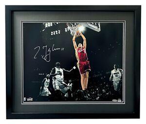 Zydrunas Ilgauskas Signed Cleveland Cavaliers 16x20 Photo Framed UDA COA LeBron