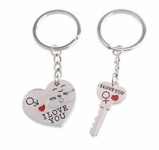 """I LOVE YOU"" KEY CHAIN RING SET 2 PIECE HEART ARROW VALENTINES DAY GIFT #KC97"