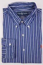 Ralph Lauren Large Custom Fit Blue Shirt Striped Multicolor Mens Size Cotton L