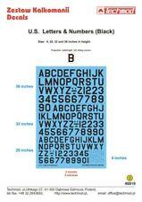 Techmod 1/48 Black U.S. Letters & Numbers # 48819
