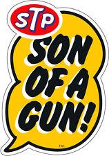 STP SUN OF A GUN DRAG RACE HOT RAT ROD DECAL VINTAGE LOOK STICKER