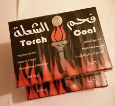 TORCH COAL SMOKELESS & ODOURLESS SHISHA HOOKAH CHARCOAL 120 PIECES