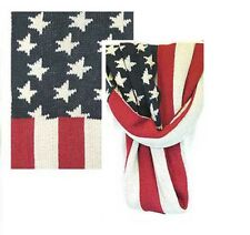 F1777LP US Flag Double Knitted Infinity Scarf (By Dozen) lot of 12 pieces