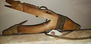 Authentic Tlingit Carved Wooden Halibut Hook