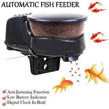 New Aquarium Automatic Fish Food Feeder Easy Feed Automatic Pellet Tank Kj