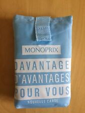 MONOPRIX French Grocery shopping bag, Baby Blue,  White Logos