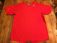 Under Armour Men's Red Heat Gear Ss Top- Size Large- Retails $40