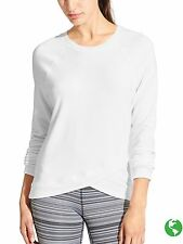 NWT Athleta Criss Cross Sweatshirt, White Size M     #489051 v710/927