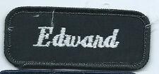 Edward name tag patch 1-3/8 X 3-3/8