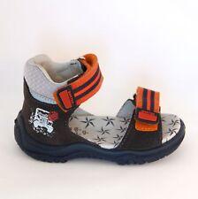 BARTEK Car Race - Kids / Toddler / Boys Sandals Shoes | Natural Leather