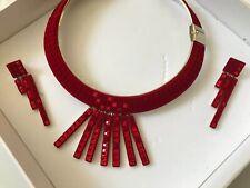 Atelier Swarovski Necklace. Viktor & Rolf Red Collar Set $2000 MSRP Summer Sale.