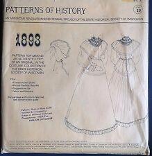 UC Pattern of History 1893 Sew Historic Dress Costume Victorian Edwardian Bodice
