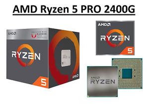 AMD Ryzen 5 PRO 2400G Quad Core Processor 3.6 - 3.9 GHz,Socket AM4, 65W CPU Only