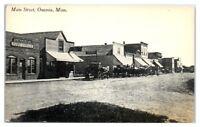 Early 1900s Main Street, Person's Hardware Co. Onamia, MN Postcard
