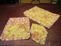 Shabby & Chic Morning Glory Floral 12pc Tablecloth Set w/Napkins & Placemats EUC