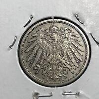 1910-A GERMANY EMPIRE 10 PFENNIG HIGH GRADE COIN