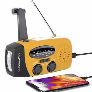 Wind Up Solar Radio, Survival, AM/FM, Emergency Weather Radio, USB Phone Charger